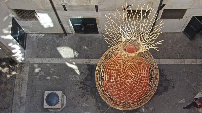 toranj od bambusa za prikupljanje vode
